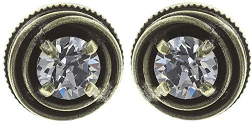 CAGES Ohrstecker | KONPLOTT - Exklusiver Designer-Modeschmuck mit Swarovski Elements | Ohrring mit Glitzer-Steinen | Ohrring für Damen in Weiß, Rosé, Blau, Grün
