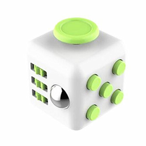 Preisvergleich Produktbild Scenstar Zappeln Cube Fidget Cube Perfekt für nervöse Finger zur Ablenkung Spielzeug gegen Stress Gadget Zauberwürfel 3.3cm (Grün)