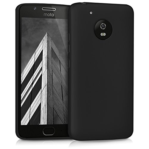 kwmobile Motorola Moto G5 Hülle - Handyhülle für Motorola Moto G5 - Handy Case in Metallic Schwarz