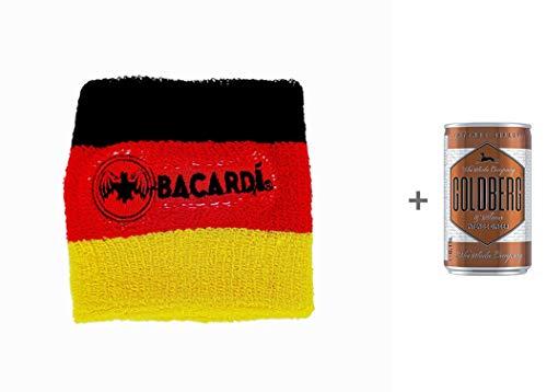 Kapitänsband Bacardi WM 2018 10x Armband Schweißband in schwarz, rot, gold Nationalmannschaft