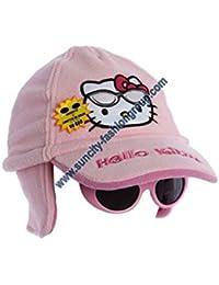 Chapka gorra polar y gafas niño Niña Hello Kitty rosa de 3a 9años