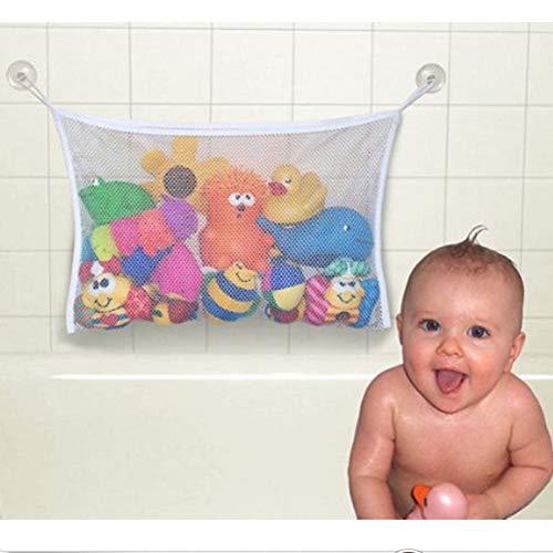 WEISY 2 x Mesh Badespielzeug Aufbewahrungsnetz Taschen Organizer 45cm x 35cm Für Kinder, Kleinkinder & Baby und Dusche Caddy
