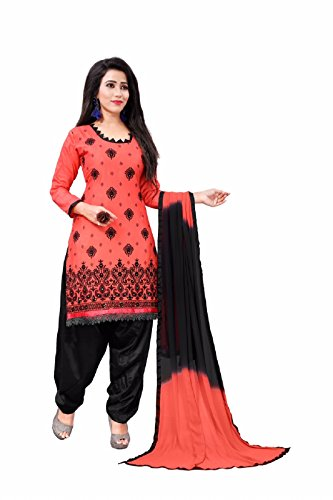 Crazy Fashion Party Wear Cotton Patiala Salwar Suits for Women Semi Stitched