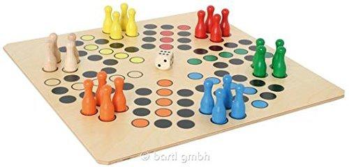 Riesen Ludo für 6 Personen, klassisches Brettspiel, Spielbrett, von Weiss Natur