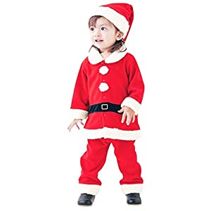 Navidad POLP Bebé Cosplay Tops Pantalones y Sombrero Cinturón Disfraz Conjuntos de 4 Piezas Rojo Verde Trajes Niñas Niños Unisex Cosplay Elf Santa Claus Disfraz de muñeco de Nieve 14