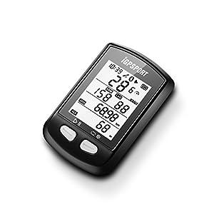 iGPSPORT ciclo/bicyele ordenador impermeable bicicleta/Ciclismo código mesa pantalla 12funciones (SPD/AV SPD/MX SPD/DST/ODO/alt/Tem/tiempo/viaje tiempo/fecha/cal/gra)