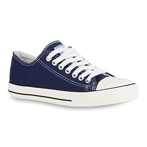 Herren Sneakers | Freizeitschuhe Sportschuhe | Schnürer Stoffschuhe |Fitness Streetstyle | viele Farben Marineblau