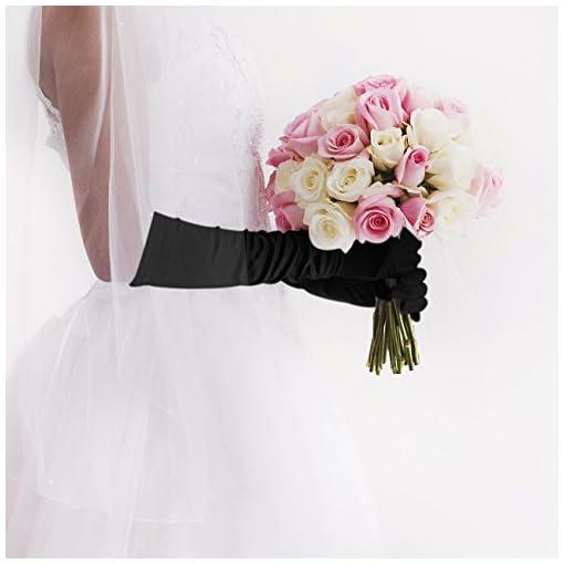 1920 Accessories Set – 1920s Flapper Costume Long Gloves,Pearl Necklace,Black Cigarette Holder Vintage Fancy Dress For Women