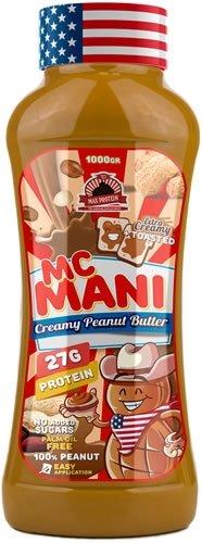 Max Protein Mc Mani, Crema de Cacahuete, Sabor Suave, 1000 gr