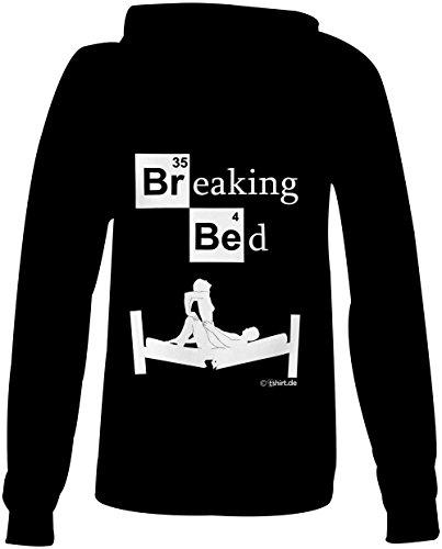 Breaking Bed ★ Confortable veste pour femmes ★ imprimé de haute qualité et slogan amusant ★ Le cadeau parfait en toute occasion schwarz