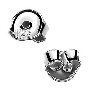 My-Bead 10 Paar 20 Stück Ohrstecker Pousetten 4.5mm 925 Sterling Silber nickelfrei Verschlüsse Ohrringe Juweliers- Qualität DIY