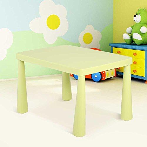GOTOTOP Tragbare Kindertisch Plastik Kinder Aktivität Tisch Kindersitzgruppe mit Farbauswahl für Malerei Lesen Gruppenspiel (Hellgrün)
