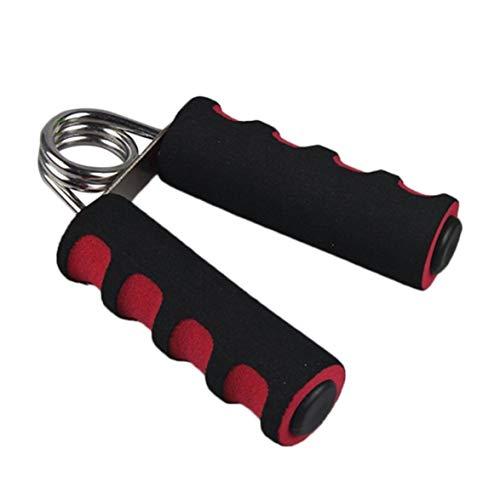 yaoyan Frühling Handgriff Finger Krafttraining Ausrüstung Stahl Schwamm Unterarm Gesundheit Builder Gym Haushalt Training Tools - Black & Red