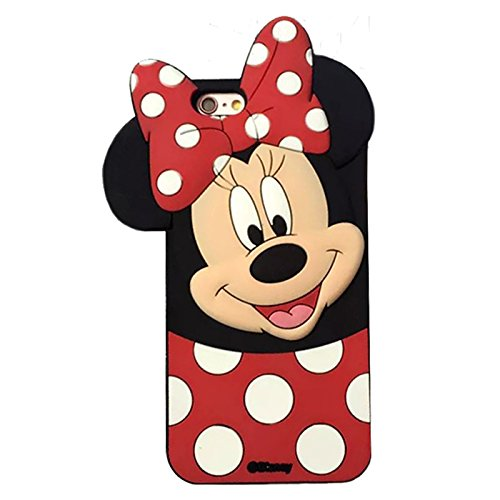 Image of Gel Case Shape Minnie Mouse Silicone Case