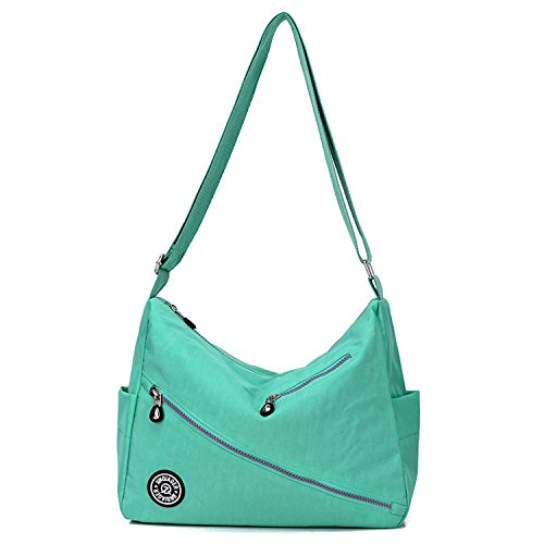 MeCooler Kuriertasche Lässige Umhängetasche Wasserdicht Taschen Damen Leichter Messenger Bag Schultertasche Mode Sporttasche für Designer Reisetasche Gr¨¹n