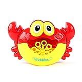 Powlance Crabe à Bulles, Crabe Électrique Machine À Bulles Salle de Bains Baignoire Machine À Bulles Musique Légère Bébé Enfants Bain Jouet Cadeau