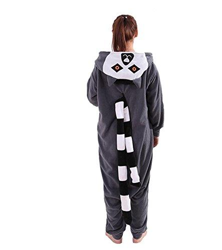 Heißes Unisex-Kostüm für Karneval und Halloween, Cosplay Zoo, Einheitsgröße grau Lemure (Lemur Kostüme)