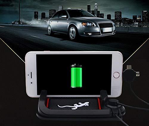 yebbt Autonavigation Handyhalterung Auto DREI Karten Anti-Rutsch-Pad kreative Silikon-Universal-Ladehalterung@Gecko -