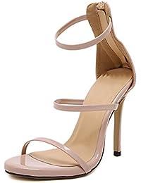 VIVIOO PumpsDamen Pumpsklassische Nackte Schwarze Lackleder Ultra High Heel Schuhe 16Cm Heel Hochzeit Schuhe...
