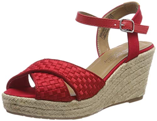 TOM TAILOR Damen 6990102 Riemchensandalen, Rot (Red 00004), 40 EU