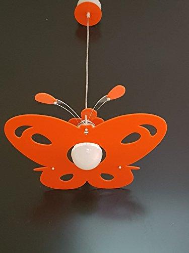 Lampadario moderno in plexiglass farfalla sospensione vari colori per cameretta camera da letto bambini - shape made in italy