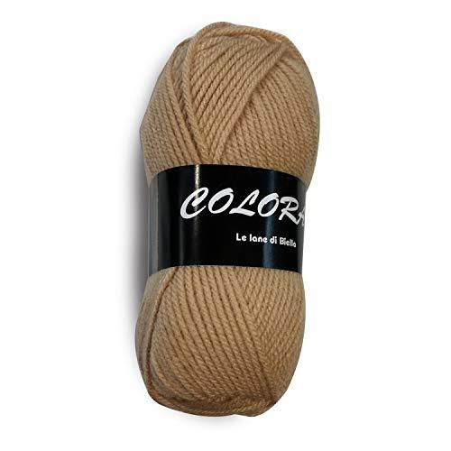 Panini tessuti, gomitoli lana colora 50 gr 140 mt - 153 yds. ideale per lavori ai ferri da maglia del 3,5-4 e uncinetto.