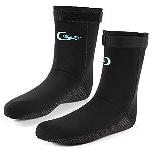 Anti-Derapant Paires Chaussettes Neoprene Nautique Natation Plongee 3mm Diving Scuba Socks Taille M