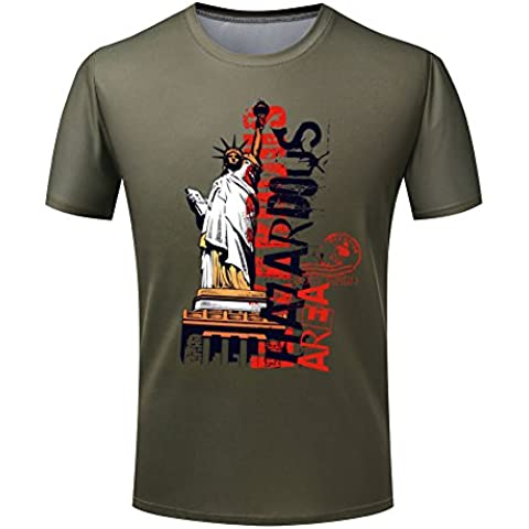 Statue of Liberty and Fashion Doodle Graphic Men's T shirt