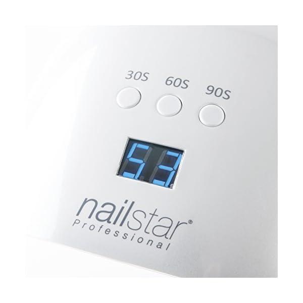 NailStar® Profesional – Lámpara UVy LED para uñas, secador de uñas con 3 temporizadores integrados y pantalla LED para manicura Shellac y en gel