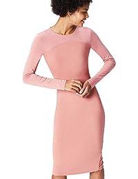 FIND Kleid Damen aus Jersey mit langen Ärmeln