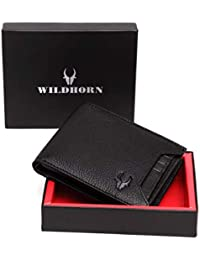 WildHorn® RFID Protected Genuine High Quality Leather Wallet for Men