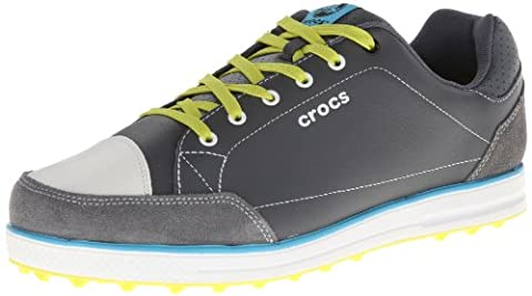 Crocs Mens Karlson Golf Shoe - Charcoal Nummer 42 Farbe Anthrazit-Hellgrün