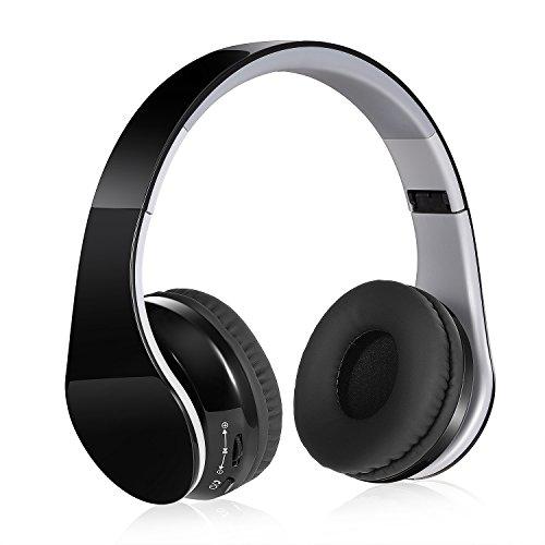 Fitfine cuffie bluetooth wireless senza fili - stereo headphones over-ear stereo hi-fi pieghevole con jack audio da 3,5 mm,con microfono riduzione rumore per dispositivi bluetooth