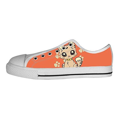 (Custom Cartoon Katze Men's Canvas shoes Schuhe Lace-up High-top Sneakers Segeltuchschuhe Leinwand-Schuh-Turnschuhe)