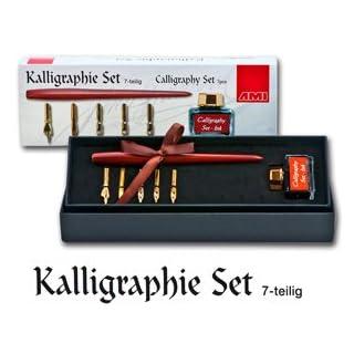 NEU Kalligraphie Set 7 teilig mit Federhalter