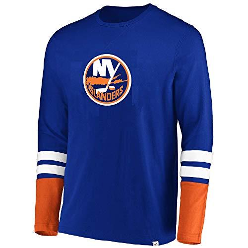 Helm Long Sleeve Tee (Majestic NHL Herren Langarmshirt The Vintage 5 Minute Major Flex Blend, Herren, schwarz, Small)