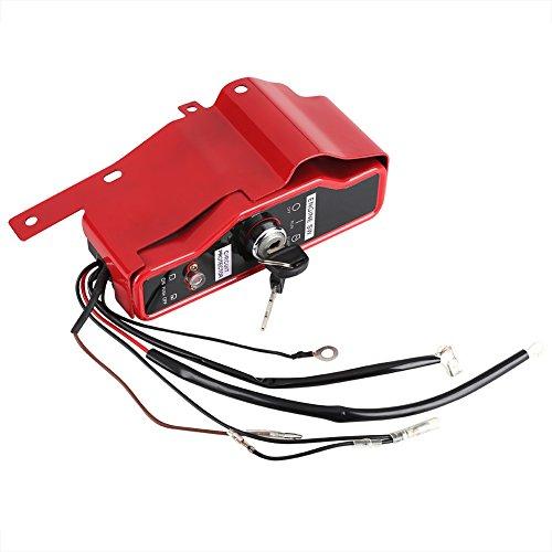Zerodis Zündschlüssel Zündschloss Ignition Switch mit 2 Schlüsseln Ersatzteil für Motor GX340 GX390 11HP 13HP -