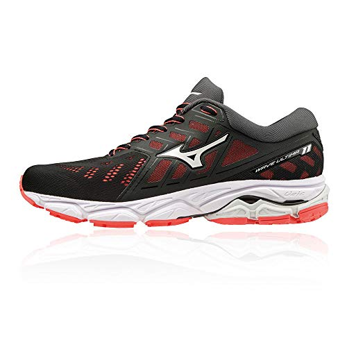 Mizuno WAVE ULTIMA 11, Scarpe running donna, Nero (Black/White/FieryCoral 01), 41 EU