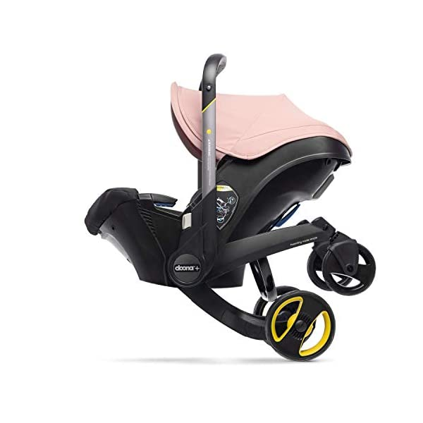 Doona Car Seat and Pram, Blush Pink, Revolutionary 0+ Car Seat that Folds Between Car Seat & Pram in Seconds, ISOFIX Base Available. Car Seat H60cm x W44cm, Pram H99cm x 82cm. Perfect for Travelling Doona  2