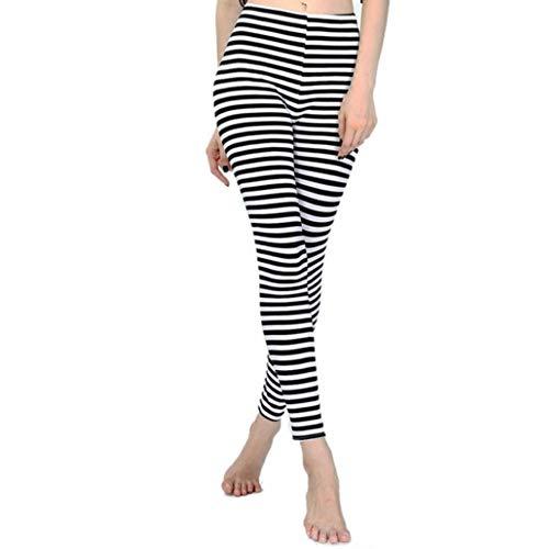 AITU Warme Leggings gestreifte Zebra-Leggings mit schwarzen und weißen gestreiften Halloween-Leggings für Mädchen, D (Hose Gestreifte Halloween)