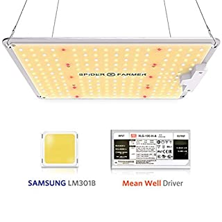 Spider Farmer SF 1000 LED Grow Light with SAMSUNG Chips Dimmable Mean Well Driver, Full Spectrum 3000K 5000K 660nm IR for Indoor Plants Veg and Flower High Efficiency NO Noise