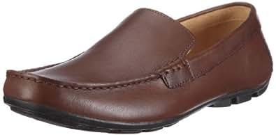 Clarks Men's Malta Coast Walnut Leather Loafers and Mocassins - 9 UK