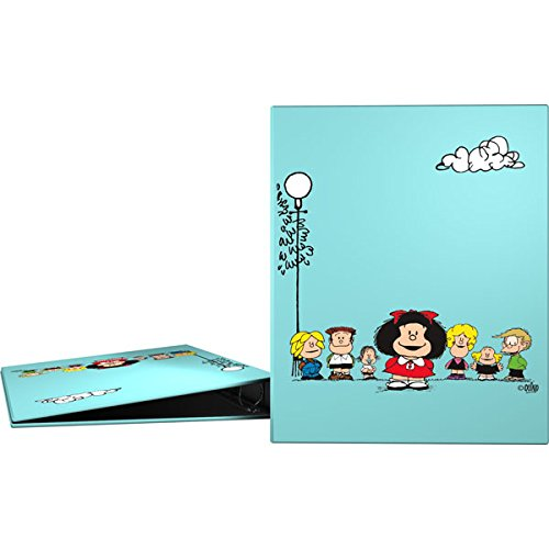 Grafoplás 88141947-Carpeta 4 anillas A4 Diseño Mafalda Amigos, 4 anillas de 25mm