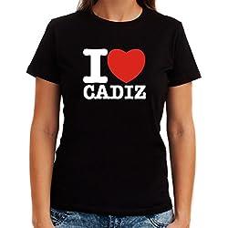Camiseta de Mujer I love Cadiz