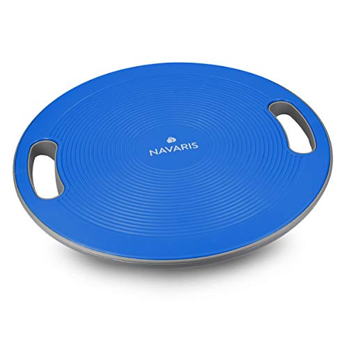 Navaris Therapiekreisel Balance Board mit Griff - Therapie Kreisel Stepper - Fitness Reha Balance Kraft Training - Sport Board Ø 40cm