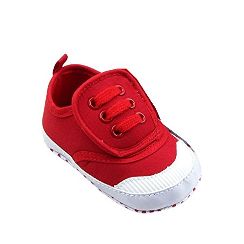 Ouneed® Bebe Casual Premier pas Chaussures Casual Souple Rouge
