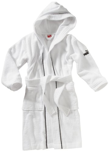PUMA Kinder Bademantel Foundation, white, 140, 819444 02