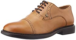 Woods Mens D Tan Leather Formal Shoes - 10 UK
