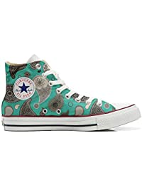 Converse All Star Customized - zapatos personalizados (Producto Artesano) Turquoise Paisley