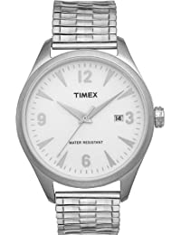 Timex Original Men's Quartz Watch with White Dial Analogue Display and Silver Bracelet T2N529ZB